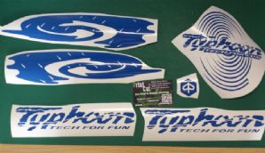 Piaggio Typhoon Decals/Stickers swirl kit2